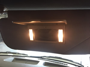 Driver and Passenger Lighted Vanity Mirrors